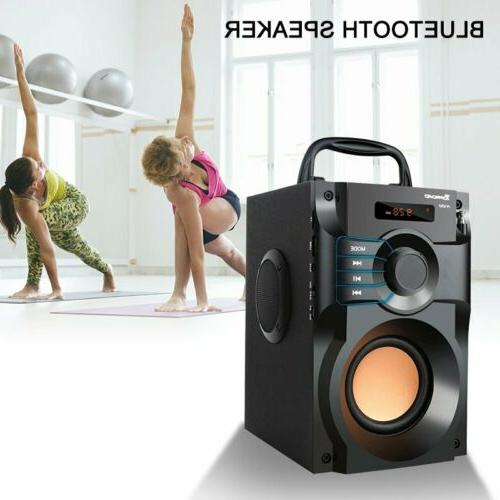 360° Sound Speaker LCD Home Stereo Subwoofer FM