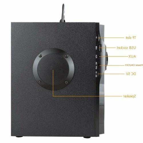 360° Speaker LCD Stereo FM
