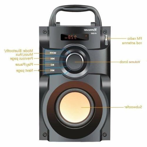 360° Surround Speaker LCD Stereo Subwoofer FM