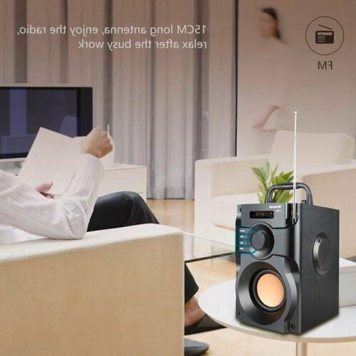 360° Surround Speaker LCD Home 3D Stereo Subwoofer FM