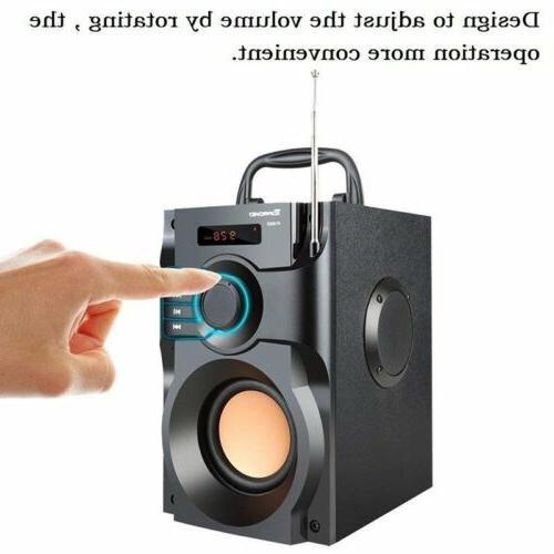 360° Speaker Stereo Subwoofer MP3 Player FM