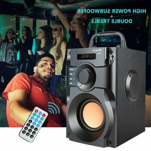 360 surround sound bluetooth speaker lcd home