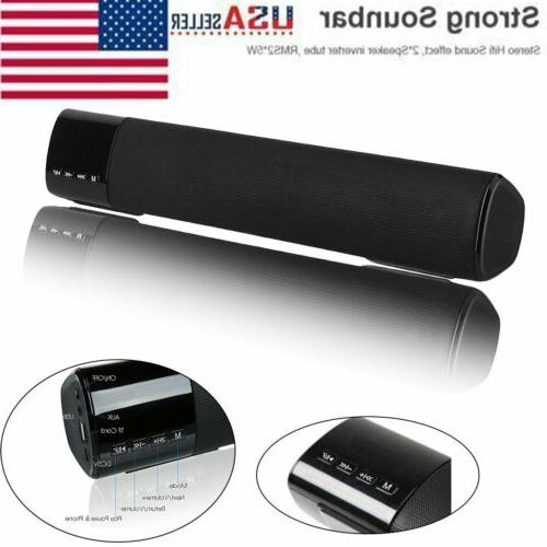 3D Surround Sound Bar Speaker System Subwoofer Wireless Bluetooth B