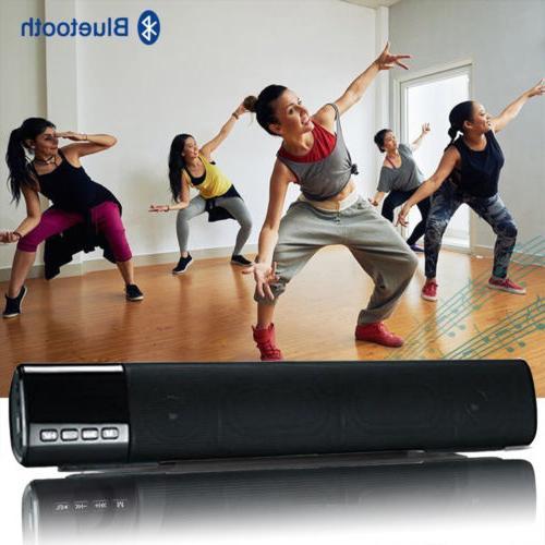 3D Surround Sound Bar Speaker System Wireless Subwoofer Blue