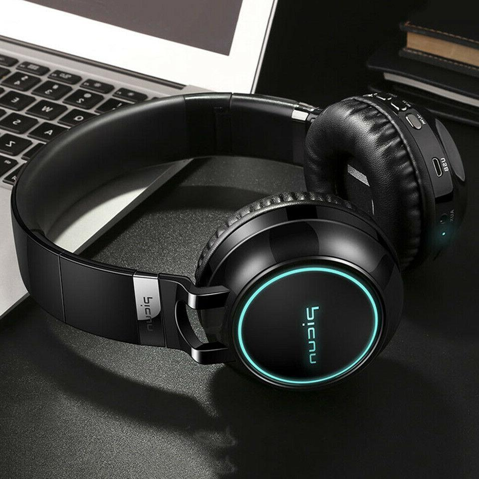 4D Surround LED Bluetooth Headset