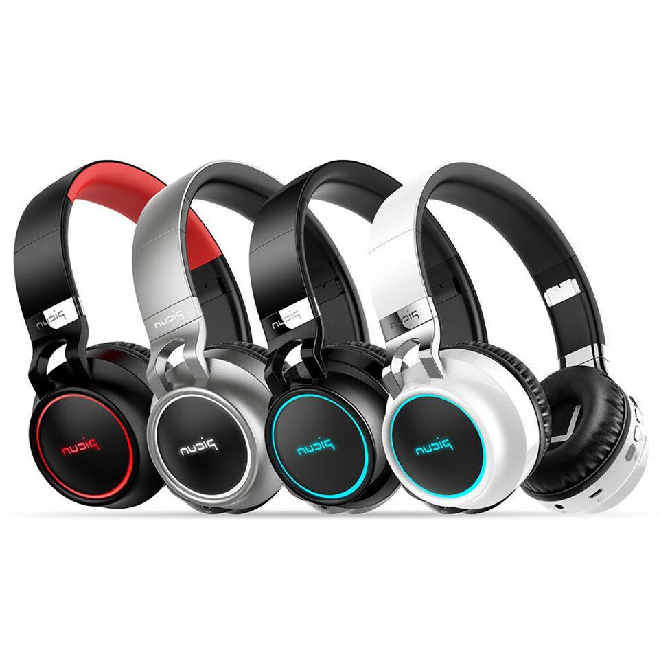 4D Surround LED Headphone Foldable Wireless Bluetooth