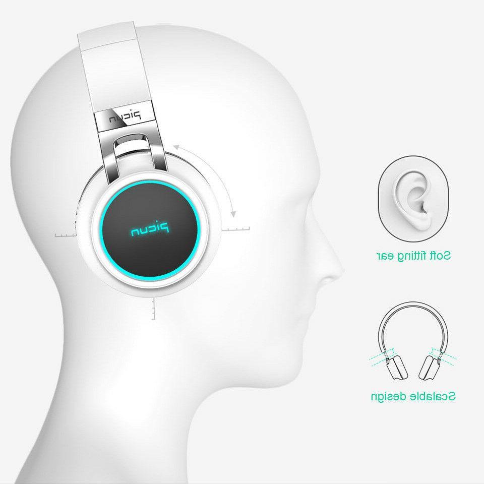 4D Sound LED Headphone Foldable Bluetooth Headset