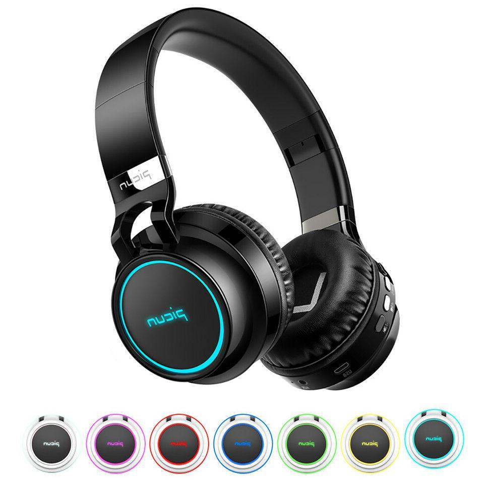 4D Sound Earphone LED Headphone Foldable Wireless Bluetooth Headset