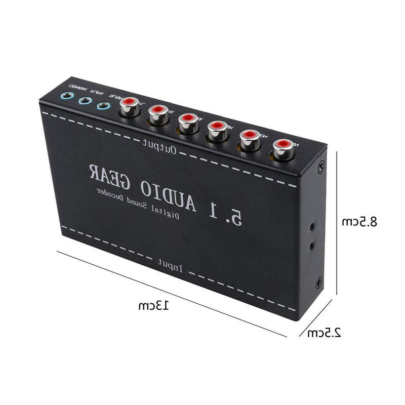 5.1 Gear in 5.1 Channel AC3/DTS Digital <font><b>Surround</b></font> Stereo Signals Decoder Play