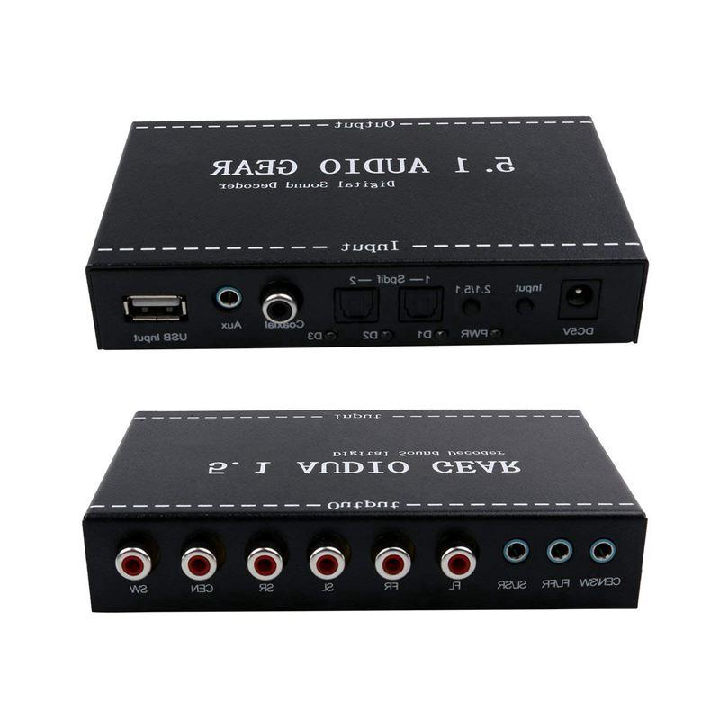5.1 Audio Gear in 5.1 Channel AC3/DTS Digital Decoder Stereo Signals Decoder HD Play