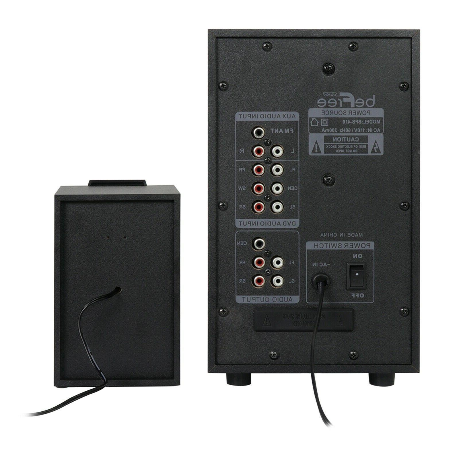 5.1 CHANNEL BeFree SOUND BFS-410 SPEAKER SYSTEM -