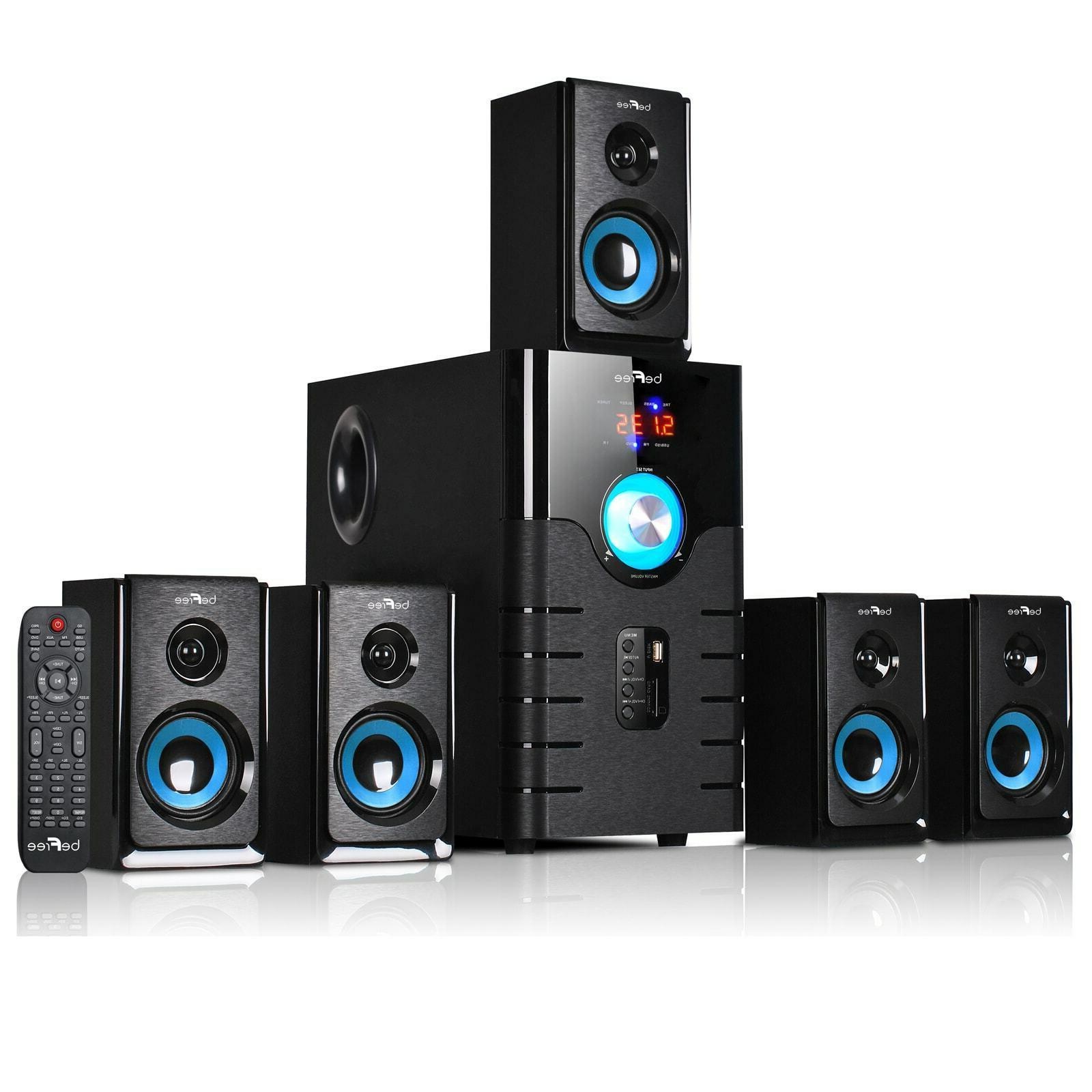 5 1 channel bluetooth surround sound speaker