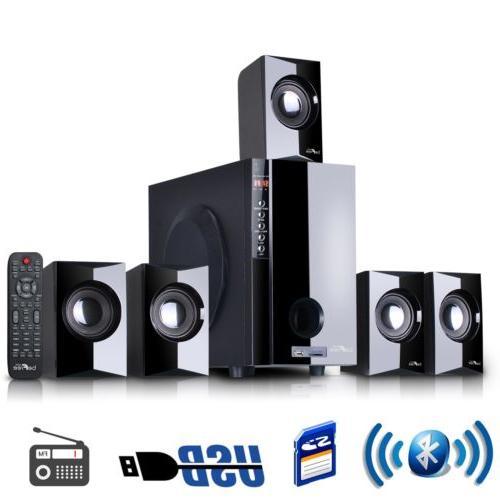 BLUETOOTH 5.1Ch HOME THEATER TV SURROUND SOUND SPEAKER SYSTE