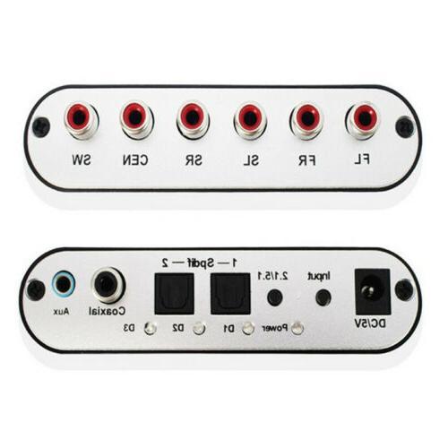 DTS AC3 Rush Surround Sound Analog Converter 5.1 Audio