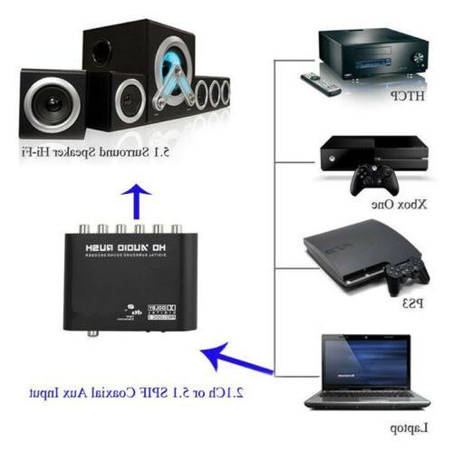 DTS AC3 Rush Analog Converter 5.1 Audio