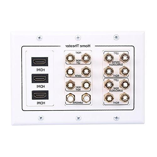 7 2 speaker wall plate