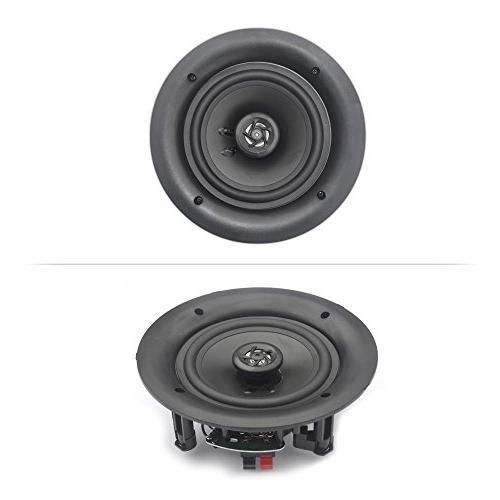 Pyle 4 Flush In-wall In-ceiling 2-Way Speaker Connections Polypropylene Cone Stereo Amplifier 250 Watt