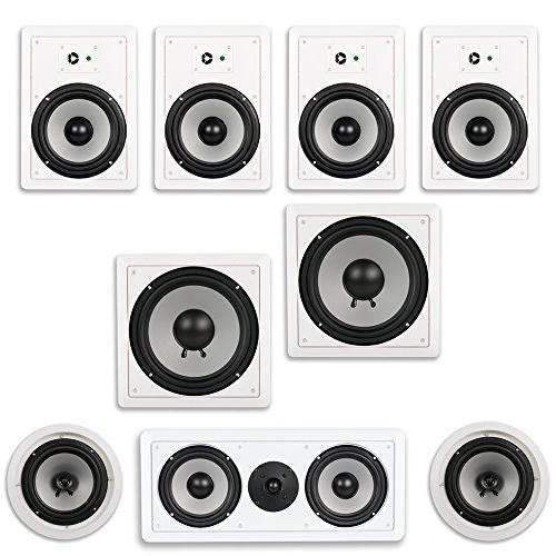 Acoustic Audio CST827 Complete 7.2 Home Theater Speaker Set