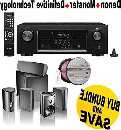 Denon AVR-S510BT 5.2 Channel Full 4K Ultra HD A/V Receiver w