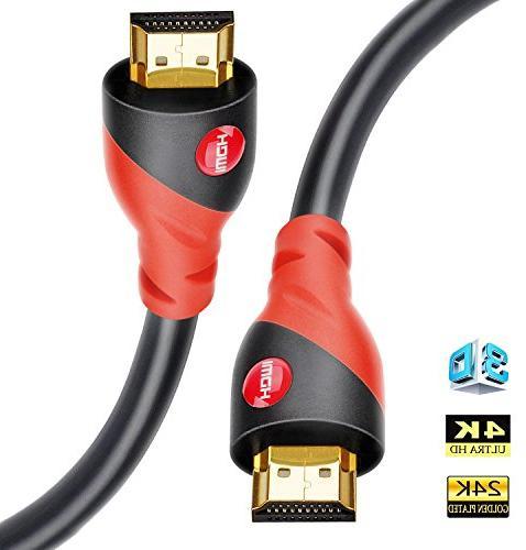 HDMI Cable 4K/HDMI Cord 12ft - Ultra HD 4K Ready HDMI 2.0  -