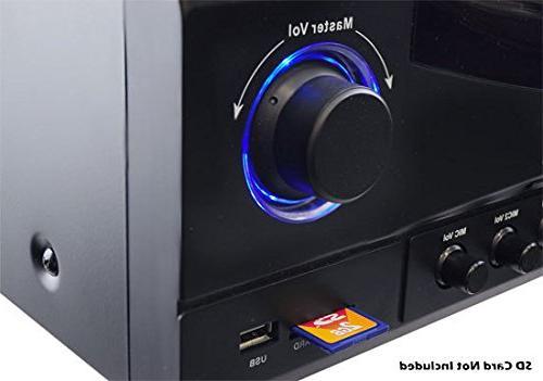 Home System - Channel Stereo Receiver Box, Surround Sound w/ HDMI, RCA, AUX, w/ Echo, TV -