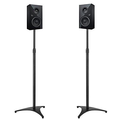 """PERLESMITH Adjustable Height Speaker Stands-Extends 30"""" to 4"""