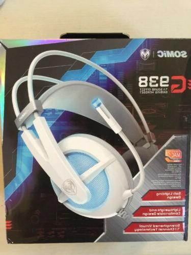 Somic G938 Virtual 7.1 Surround Sound Gaming Headset for PC,