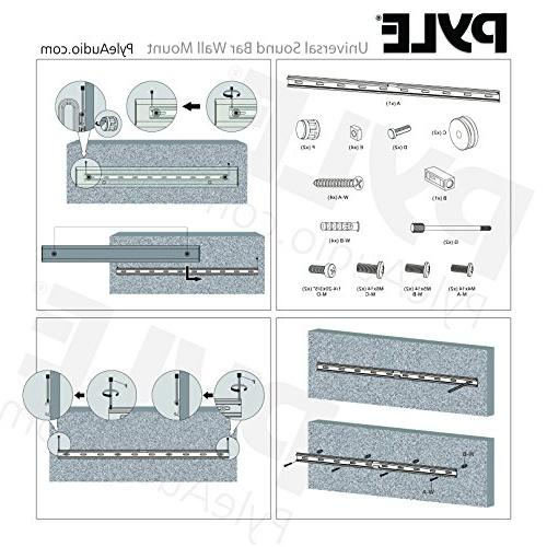 Universal Wall Mount Stand Audio Racks Sonos, Toshiba, LG, Phillips, Home Theater Sound Bar Systems - Pyle