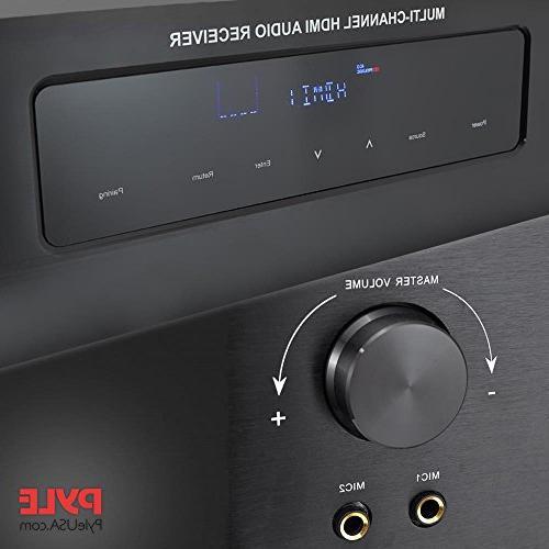 Wireless System - 300W Channel Home Theater Surround Sound Audio Box w/HDMI, Remote, - Pyle PT592A