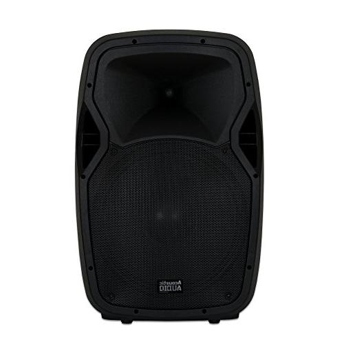 """Acoustic by AA15BS Battery Portable 15"""" with Wireless Mic Speaker"""