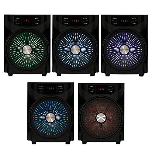 Acoustic Audio LED 2.1-Channel Theater Stereo System Black