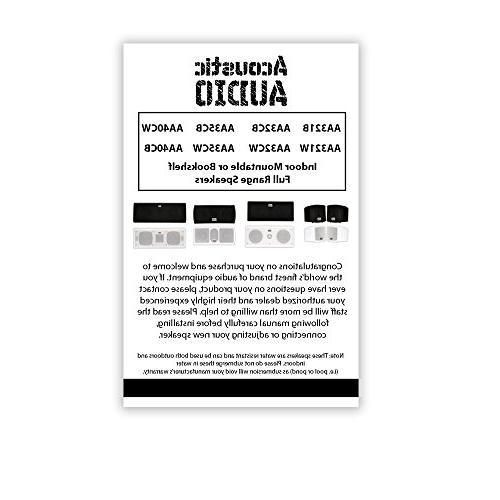 Acoustic AA40CB Indoor Center 3 Way Speaker 500 Watts