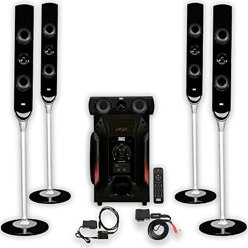 Acoustic Audio AAT1000 Tower 5.1 Home Speaker with Input