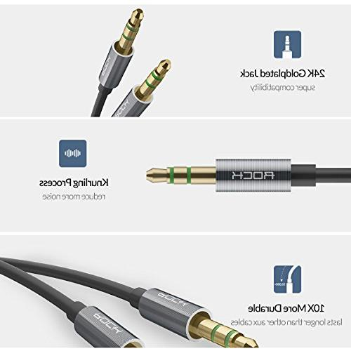 Audio Cable SPACE Auxiliary Cord Male to Aux for Apple iPhone, Galaxy, Pixel,