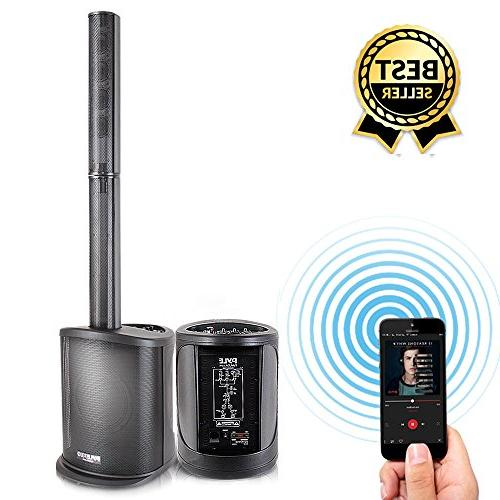 "Digital Audio Speaker Amplifier - Floor Stereo Stage Tower Speaker System with 8"" Subwoofer, Tweeters, Home Theater -"