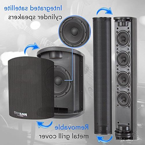 Digital Audio Amplifier - Floor Standing Stereo Stage Tower Tweeters, Home - Pyle