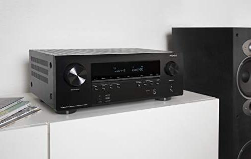 Denon AVR-S940 Receiver, Power, 7.2 Channel Ultra 3D Dolby Music System, Alexa Control, HEOS Wireless Expansion, and Outputs
