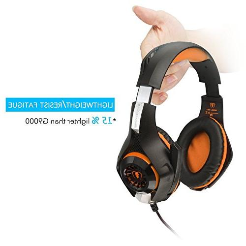 Beexcellent Headset with Microphone Reduction Game Earphone - Easy Volume LED Lighting 3.5MM