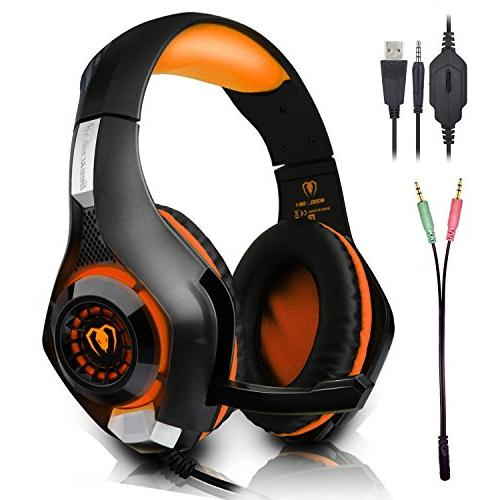 beexcellent gaming headset microphone new xbox ps4 smart pho