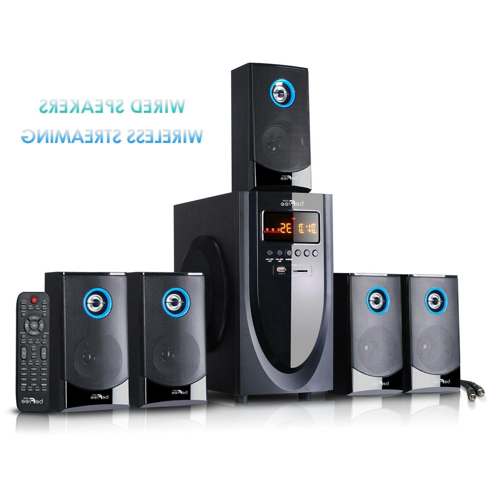 beFree Sound 5.1 Channel Surround Sound Speaker System with