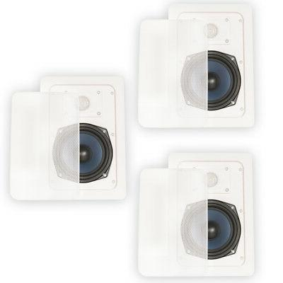 Blue Octave LW52 In Wall Speakers Home Theater Surround Soun