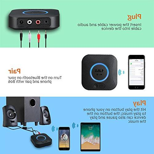 1Mii B06 Plus Bluetooth Receiver, HIFI Audio Adapter, with 3D Low for Music
