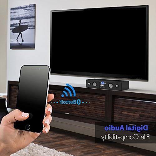 Pyle Bluetooth Soundbar - Bass Speakers TV, SD, Radio with Input , For Home Theater, -
