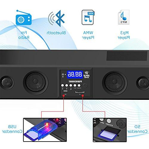 Bass Speakers Compatible TV, Radio with 3.5mm AUX Input Control, For - PSBV200BT