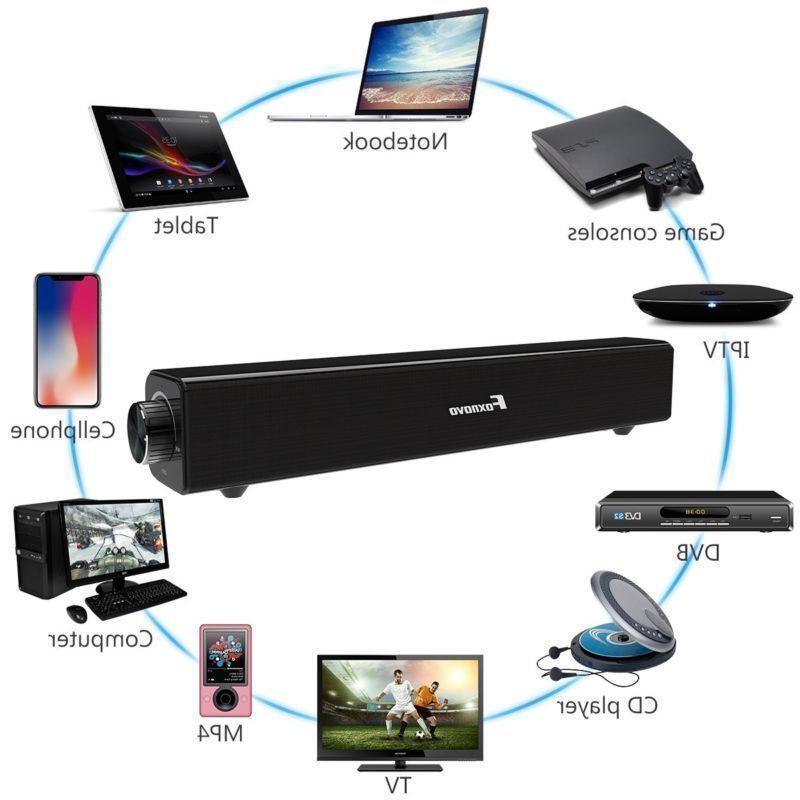 Bluetooth Soundbar TV Home Speaker 3D