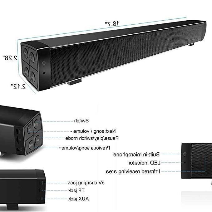 XINGDOZ SoundBar TV <font><b>Speaker</b></font> Remote Control, Surround Sound