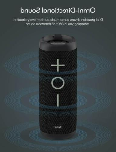 Tribit Bluetooth Speaker 24W Portable,360° Full Surround Sound,IPX7 Waterproof