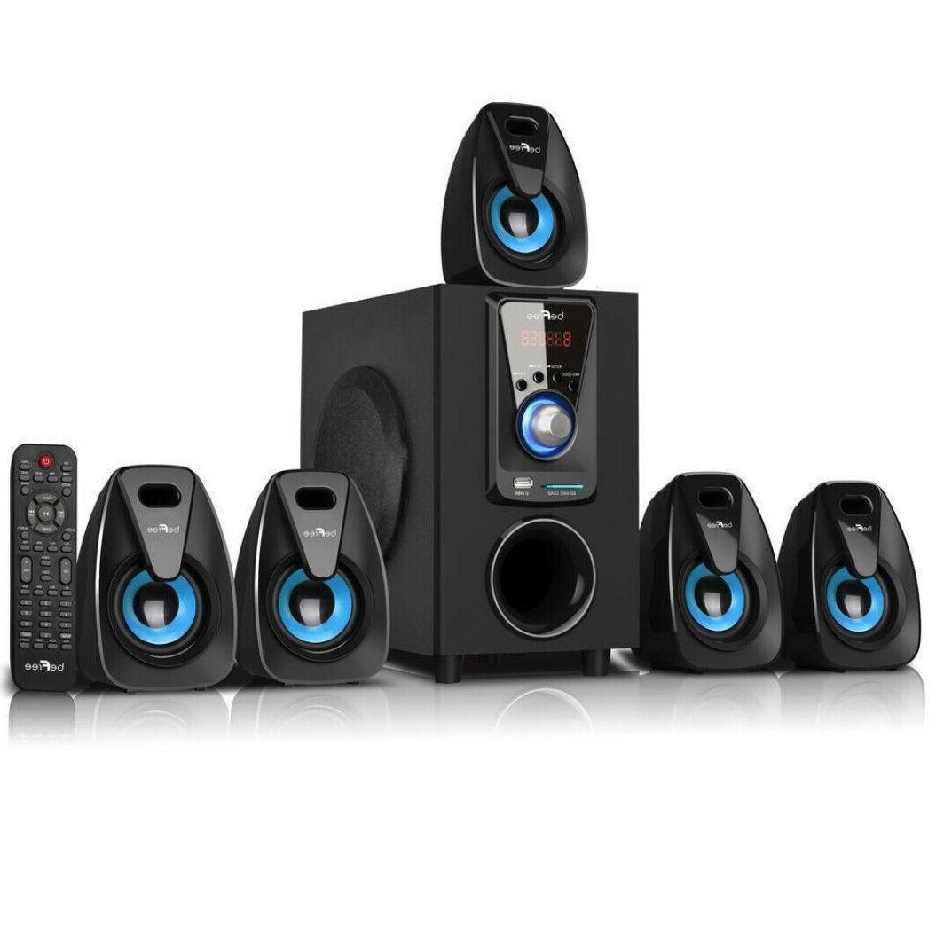 Bluetooth System Surround Sound Set Wireless Theater Entertainment