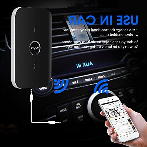 ELEGIANT Transmitter Multi-functional Bluetooth Audio Kit for Headphones MP3/MP4 and More
