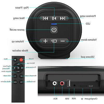Bluetooth Wireless Surround Sound Bar Speaker Home TV